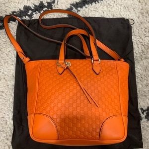 Gucci tote crossbody guccissima leather